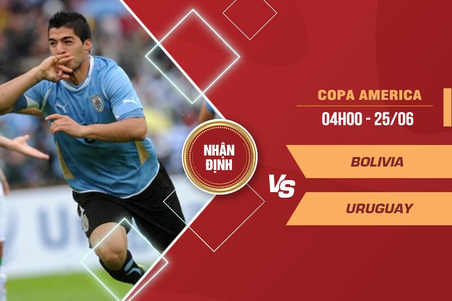 Nhận định Bolivia vs Uruguay, 04h00 ngày 25/6 – VCK Copa America 2021