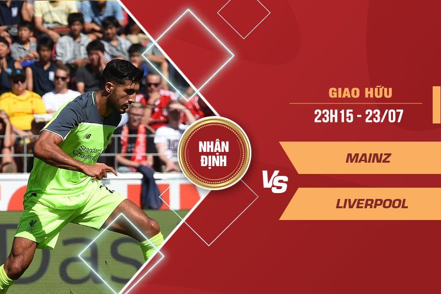 Nhận định Mainz vs Liverpool, 23h15 ngày 23/7 – Giao hữu CLB