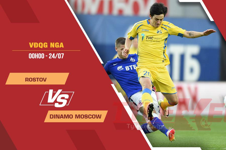 Tỷ lệ kèo nhà cái Rostov vs Dinamo Moscow, 00h00 ngày 24/7 – VĐQG Nga