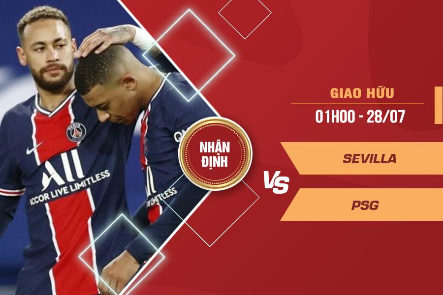 Nhận định Sevilla vs PSG, 01h00 ngày 28/7 – Giao hữu CLB