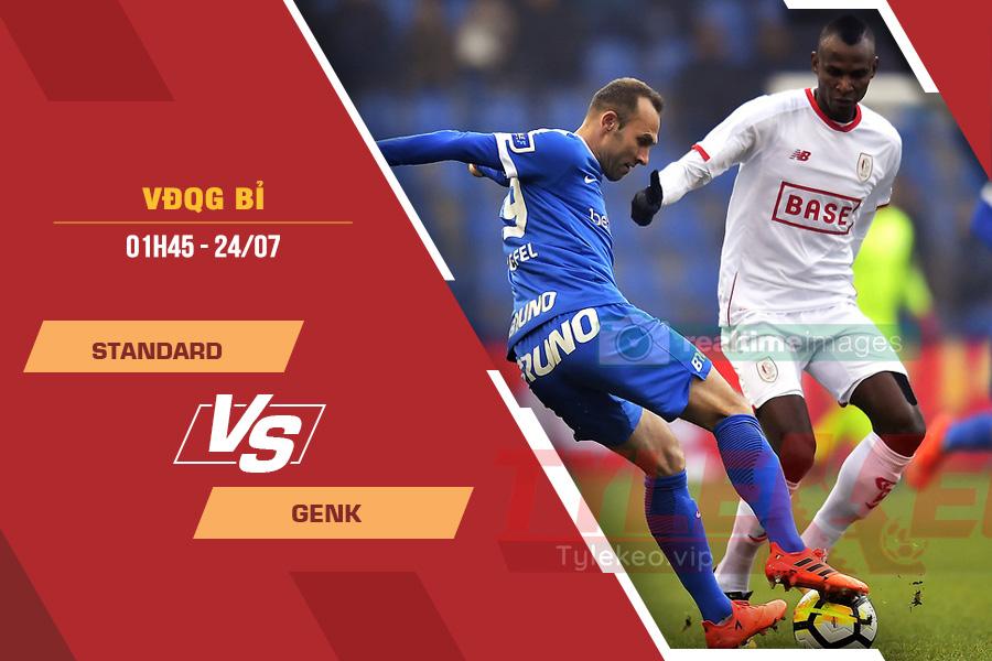 Tỷ lệ kèo nhà cái Standard vs Genk, 01h45 ngày 24/7 – VĐQG Bỉ