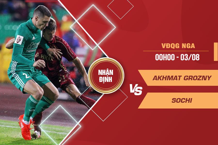 Nhận định Akhmat Grozny vs Sochi, 00h00 ngày 3/8 – VĐQG Nga