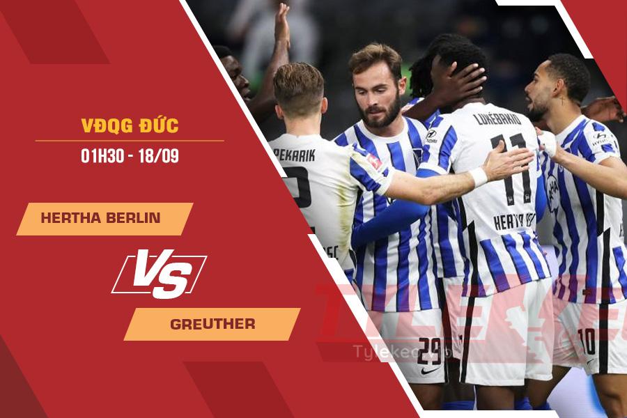 Soi kèo Hertha Berlin vs Greuther, 01h30 ngày 18/9 – VĐQG Đức