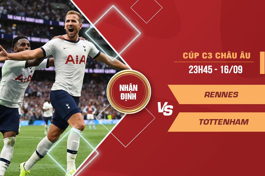 Nhận định Rennes vs Tottenham, 23h45 ngày 16/9 – Cúp C3 châu Âu
